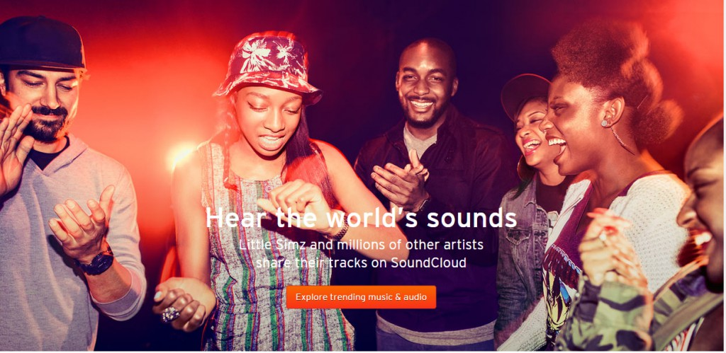 Call-to-action Sound cloud ejemplo