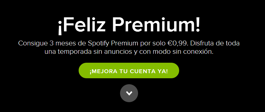 ejemplo Call-to-action spotify