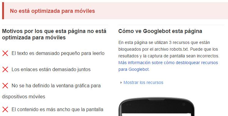 Google premiara a webs responsive