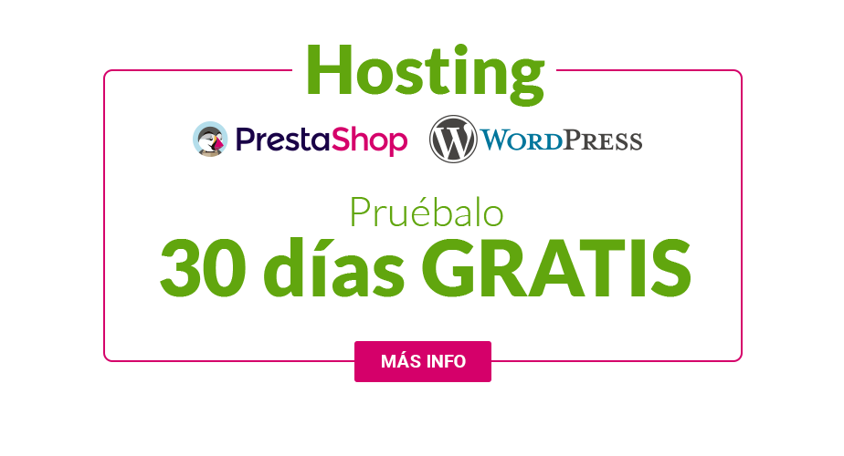 Hosting optimizado 100% prestashop