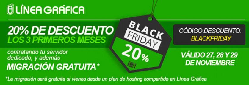 ¡Black Friday en Línea Gráfica! 20% de descuento en servidores dedicados y migración gratis