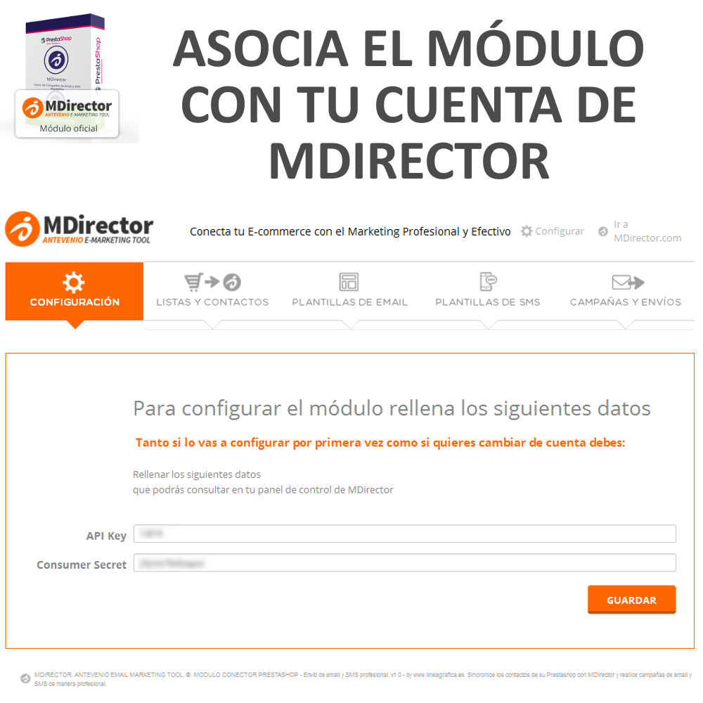 Módulo Prestashop MDirector – Email y SMS Marketing