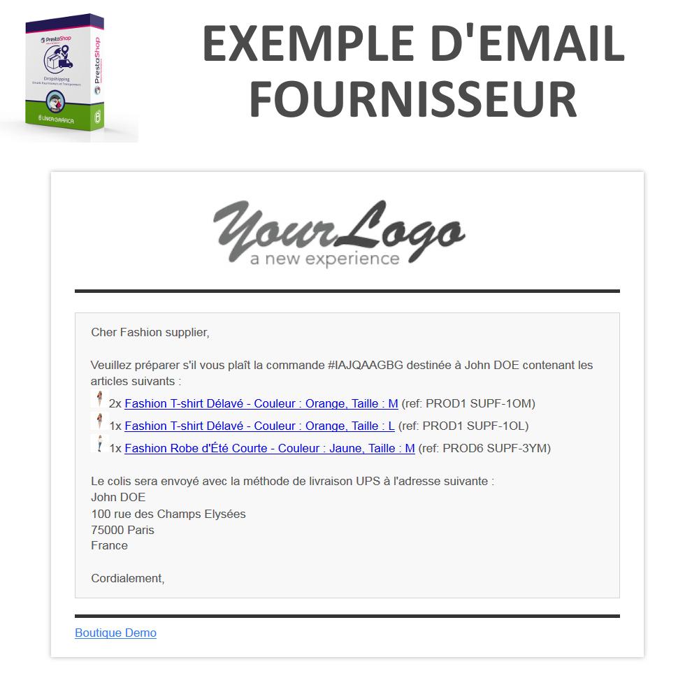 Module PrestaShop Dropshipping - Emails Fournisseurs et ...