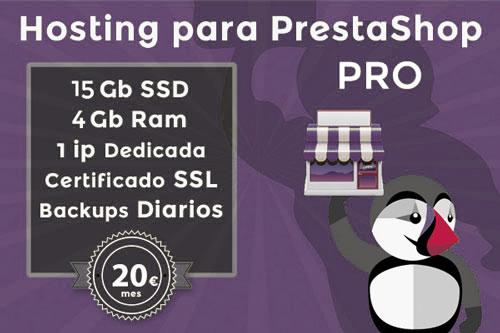 plan hosting prestashop pro
