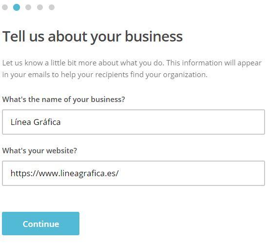 Crear cuenta en MailChimp