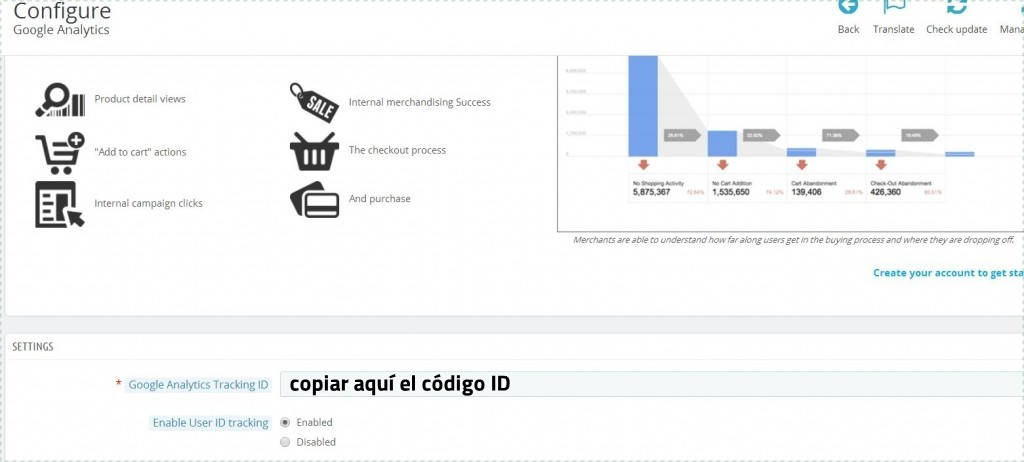 google analytics prestashop configurar