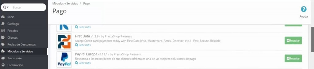 Instalar y configurar Paypal en PrestaShop 1.6