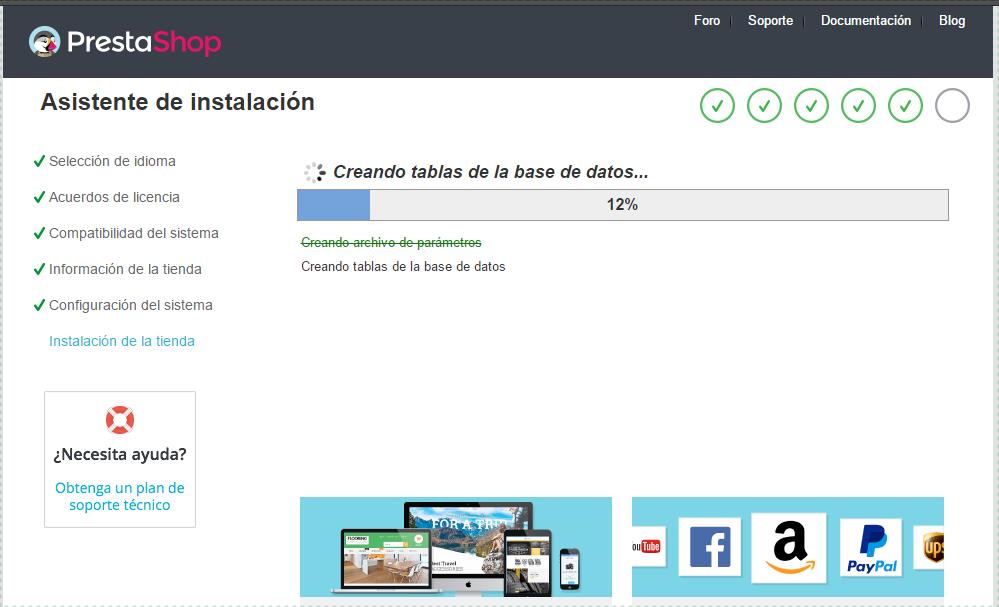 Instalación PrestaShop 1.7