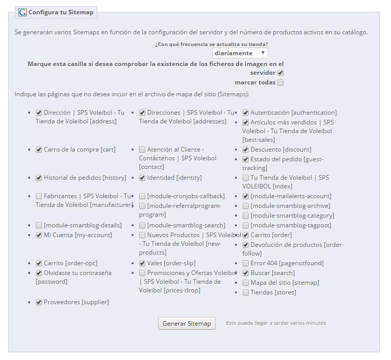 sitemaps para prestashop 1.6