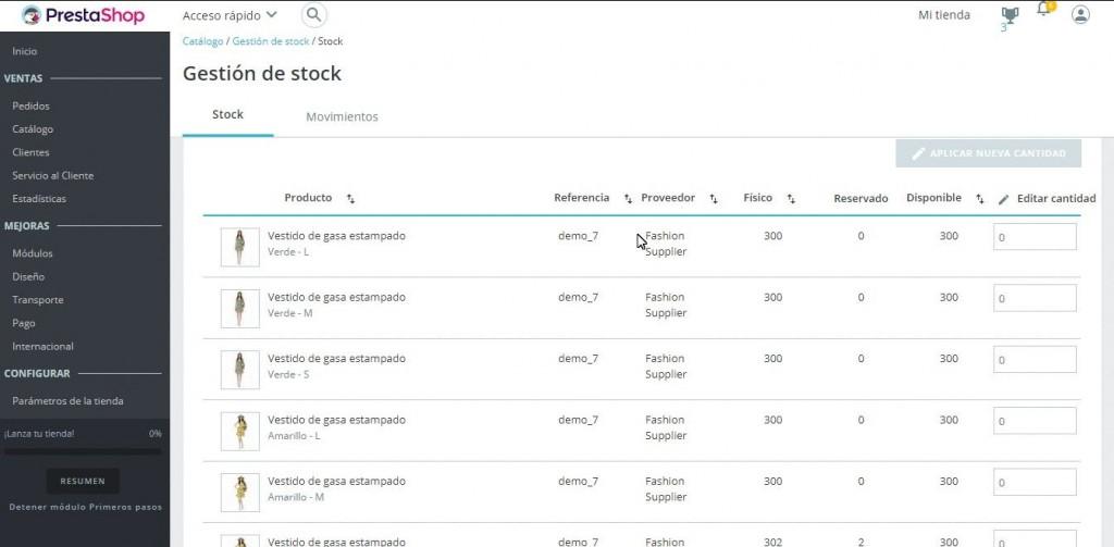 gestion avanzada de stock en prestashop 1.7 stock