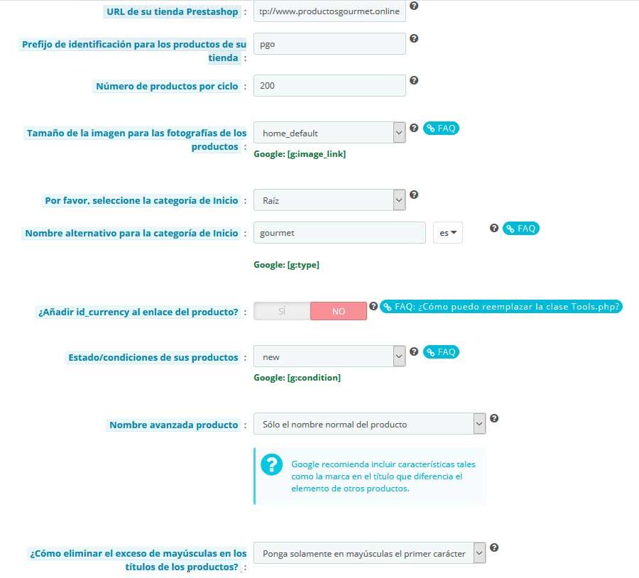 Configurar Google Shopping en PrestaShop