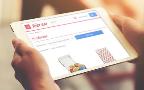 portfolio justeat - E-commerce with PrestaShop